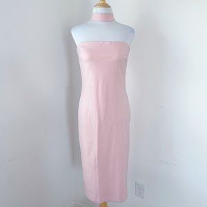 NWOT Amanda Uprichard Strapless Mock Neck Dress